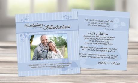 """Einladungen zur Silberhochzeit """"Die Liebe"""""""