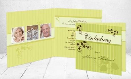 """Einladungskarten Goldhochzeit """"50 Jahre Dankbarkeit"""""""