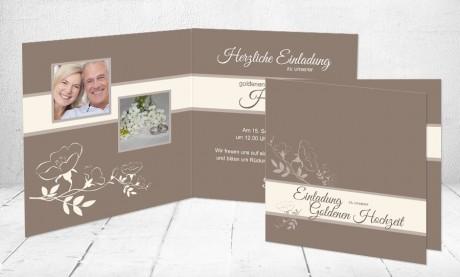 """Silberhochzeitskarten Einladung """"Weil es Liebe ist"""""""