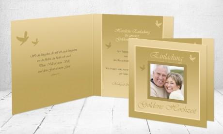 """Einladungskarten Goldhochzeit """"Goldene Hochzeit"""""""