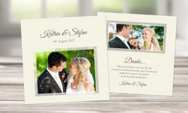"Danksagungskarten Hochzeit ""DANKE"""