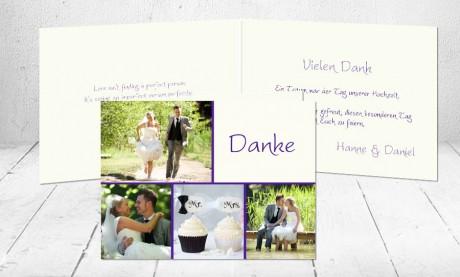 """Dankeskarten Hochzeit """"Ein Traum"""""""