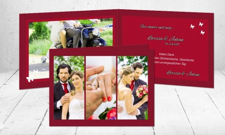 """Dankeskarten Hochzeit """"für immer und ewig"""""""