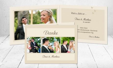 """Dankeskarten Hochzeit """"bis ans Ende der Welt"""""""