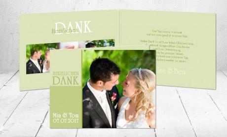 """Dankeskarten Hochzeit """"pure Liebe"""""""