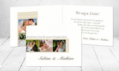 """Dankeskarten Hochzeit """"Einzigartig"""""""