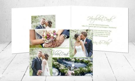 """Dankeskarten Hochzeit """"Die große Liebe"""""""