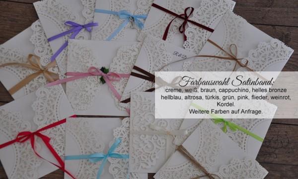 """Einladungskarten Hochzeit Vintage """"Edler Laserschnitt"""""""