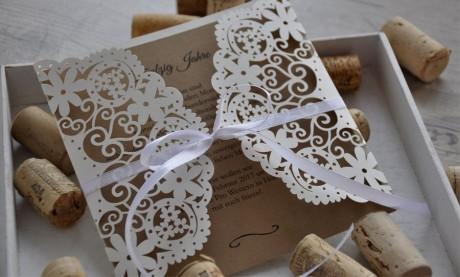 """Hochzeitseinladungen Vintage diy """"Blümchen"""""""