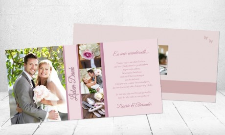 "Danksagungskarten Hochzeit ""Lieben Dank"""