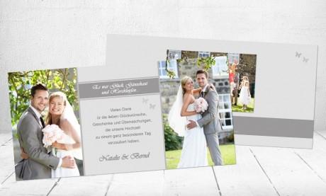 """Danksagungskarten Hochzeit """"Gänsehaut"""""""