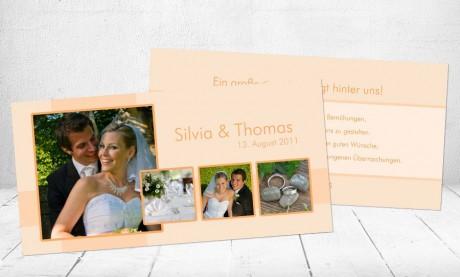 """Danksagungskarten Hochzeit """"Große Gefühle"""""""