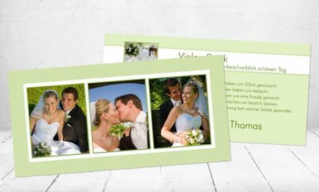 "Danksagungskarten Hochzeit ""Liebescode"""