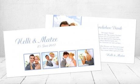 "Danksagungskarten Hochzeit ""Wimpel"""