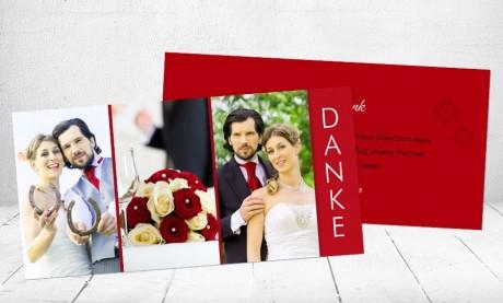 """Danksagungskarten Hochzeit """"Glück"""""""