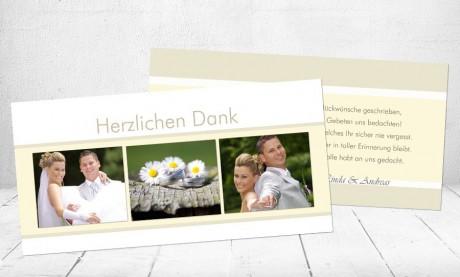 """Danksagungskarten Hochzeit """"Liebesglück"""""""