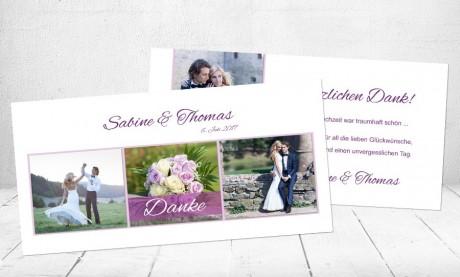 """Danksagungskarten Hochzeit """"Der perfekte Tag"""""""