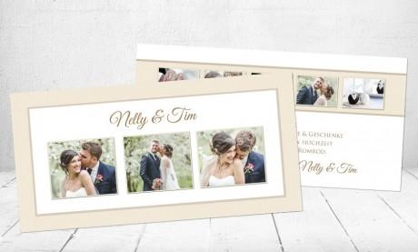 """Danksagungskarten Hochzeit """"Schmetterlinge im Bauch"""""""