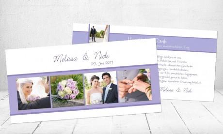 """Danksagungskarten Hochzeit """"Hochzeitsfieber"""""""