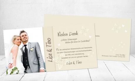 """Danksagungskarten Hochzeit """"Schöne Erinnerungen"""""""