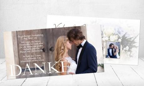 """Danksagungskarten Hochzeit """"Herzklopfen"""""""