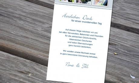 """Danksagungskarten Hochzeit """"Lebenstraum"""""""