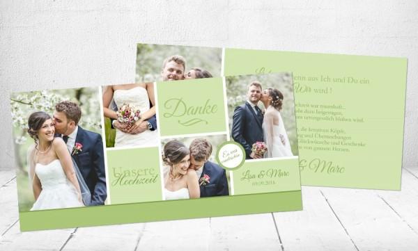 """Danksagungskarten Hochzeit """"Liebe"""""""