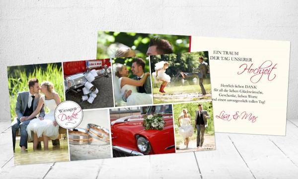 """Danksagungskarten Hochzeit """"Verliebt"""""""