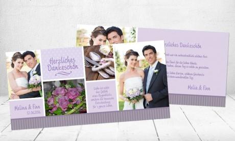 """Danksagungskarten Hochzeit """"Kribbeln im Bauch"""""""