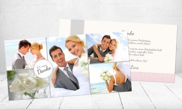"""Danksagungskarten Hochzeit """"Only you"""""""