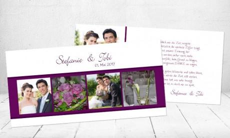 """Danksagungskarten Hochzeit """"Du & Ich"""""""