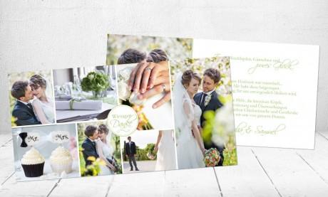 """Danksagungskarten Hochzeit """"Pures Glück"""""""