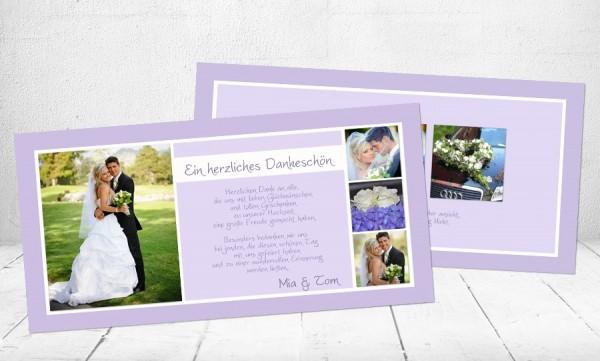"""Danksagungskarten Hochzeit """"Unendliche Liebe"""""""