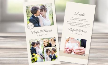"""Danksagungskarten Hochzeit """"Liebestrank"""""""