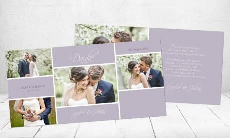 """Danksagungskarten Hochzeit """"True Love"""""""