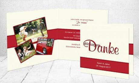 "Dankeskarten Hochzeit ""Wir sagen Danke"""