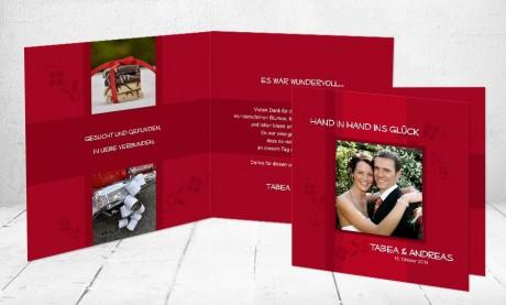 """Dankeskarten Hochzeit """"Für jetzt und für immer"""""""