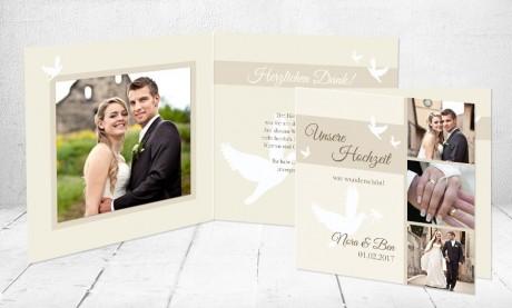 """Dankeskarten Hochzeit """"Hochzeitstauben"""""""
