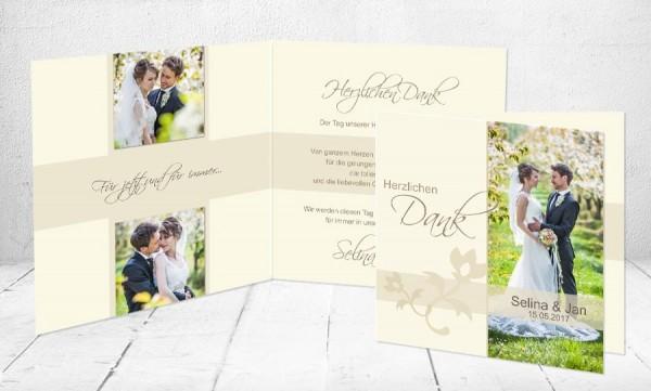 """Dankeskarten Hochzeit """"Meine große Liebe"""""""