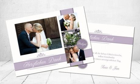 """Danksagungskarten Hochzeit """"Glücklich"""""""