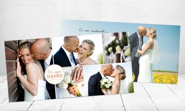 """Danksagungskarten Hochzeit """"Heißer Flirt"""""""
