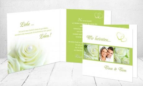 """Einladungskarten Hochzeit """"Rosenzauber Bestseller"""""""