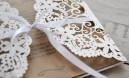 """Einladungskarten Hochzeit Lasercut """"Blütenmeer"""""""
