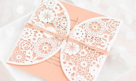 """Hochzeit Vintage Einladung """"Zauberblüten"""""""