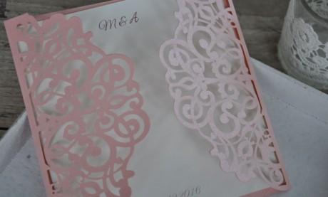 """Edle Hochzeitseinladungen  """"Traum in rosa"""""""