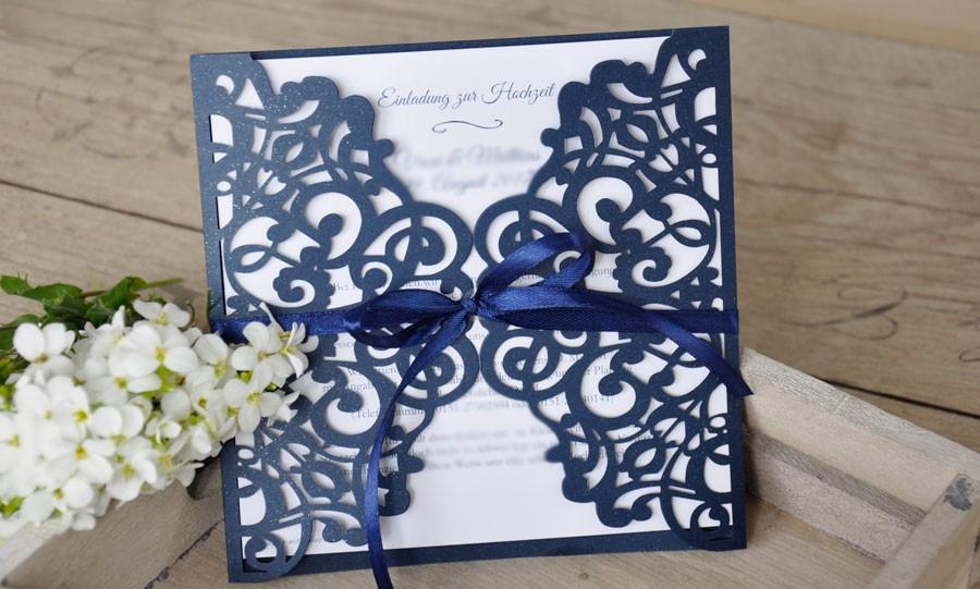 Einladungskarten Hochzeit Spitze Maritim
