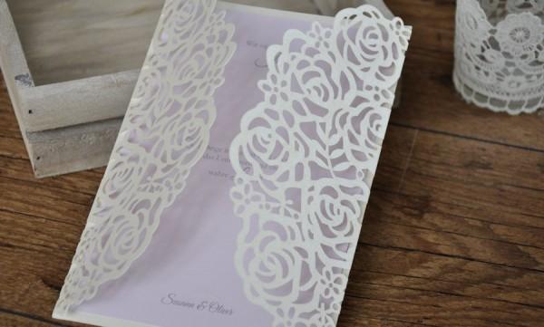 """Einladungskarten Hochzeit """"Vintage Rosen"""""""
