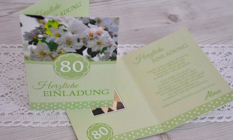 """Einladungskarte runder Geburtstag """"Achzig"""""""