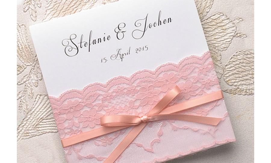 Hochzeitseinladungen spitze rosa strumpfband - Hochzeitseinladungen mit spitze ...