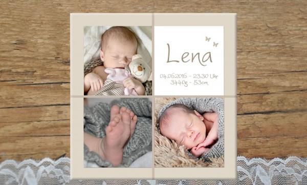 Wandbild Mit Geburtsdaten Und Foto Zuckersuss